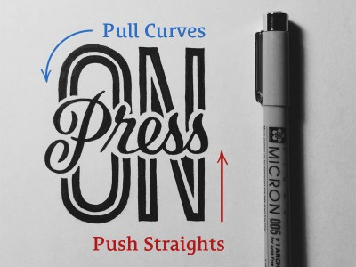 Quick Tip to Draw Straight Lines & Avoid Shaky Hand Lettering – By Sean McCabe