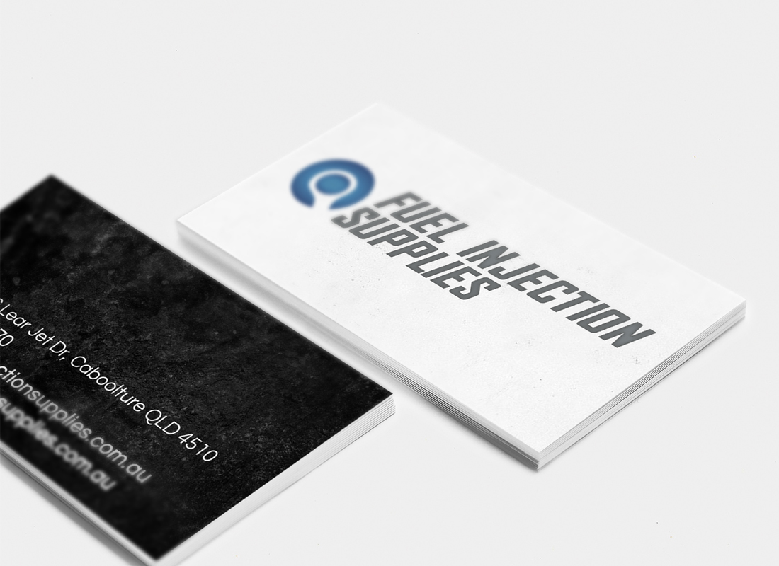 Fuel Injection Supplies, Business Card Design, Graphic Design Brisbane, Creative Curiosity