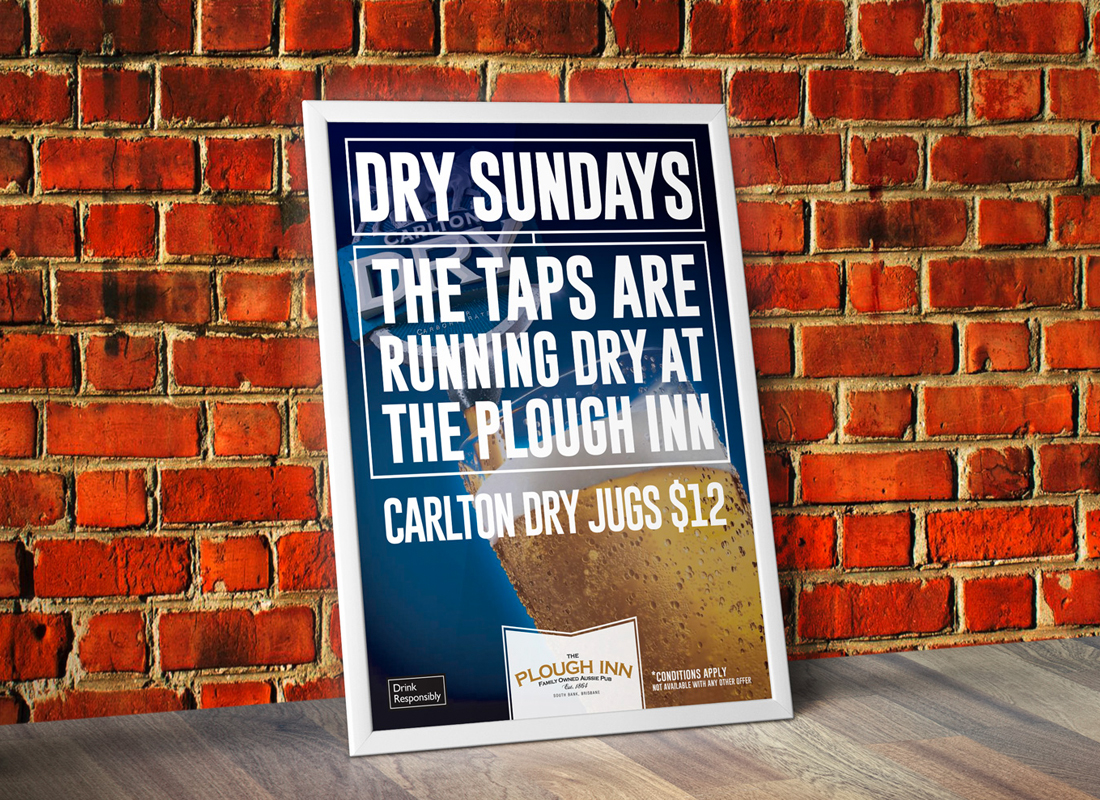The Plough Inn Brisbane, Graphic Design Brisbane, Poster Design Brisbane, Creative Curiosity