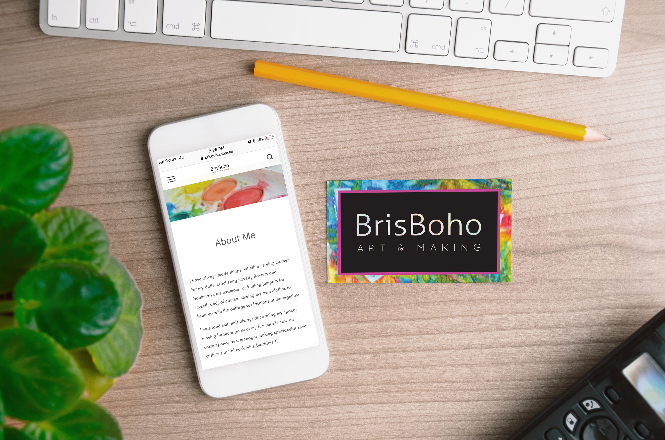 BrisBoho Website & Business Card