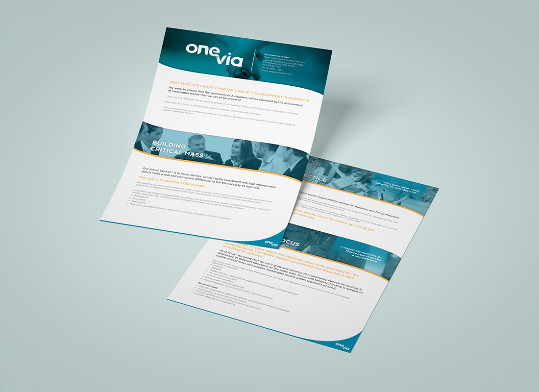 OneVia, Graphic Design Brisbane, Creative Curiosity