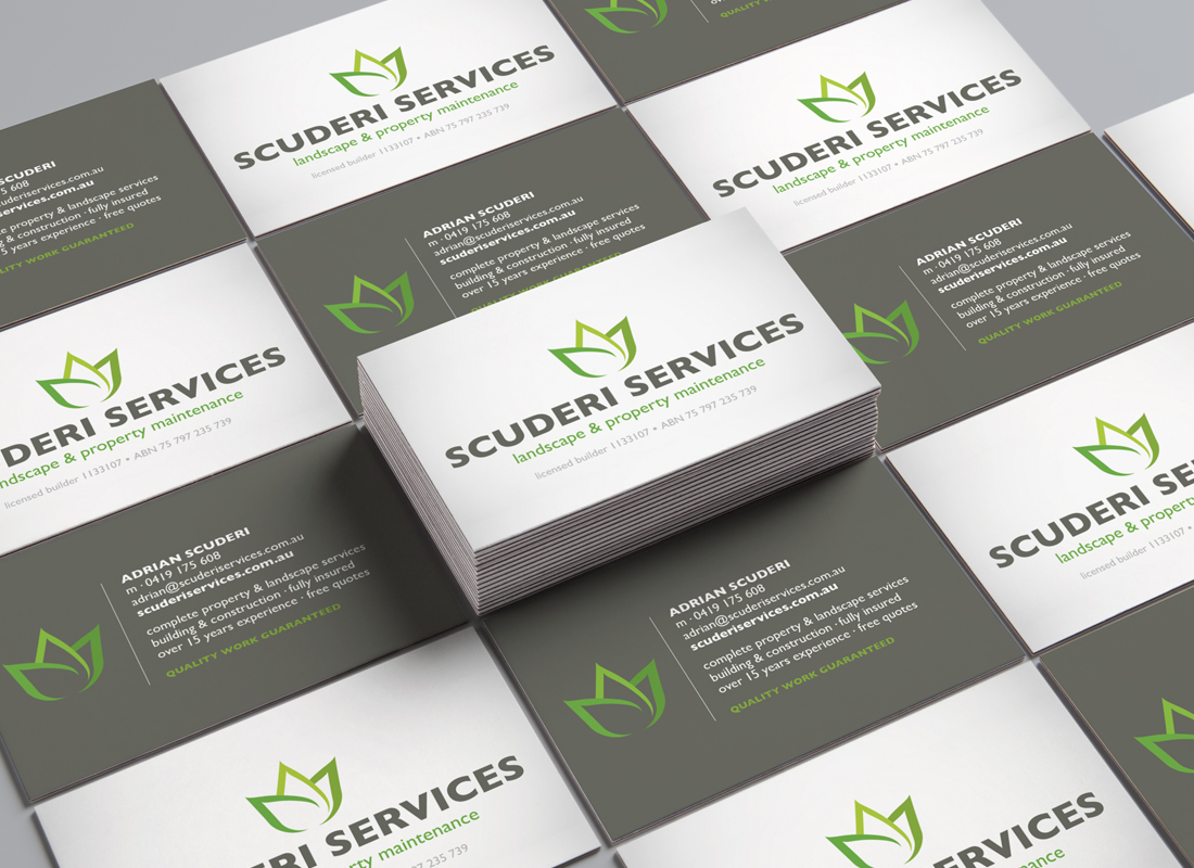 Scuderi Services, Business Card, Brisbane Graphic Design, Creative Curiosity