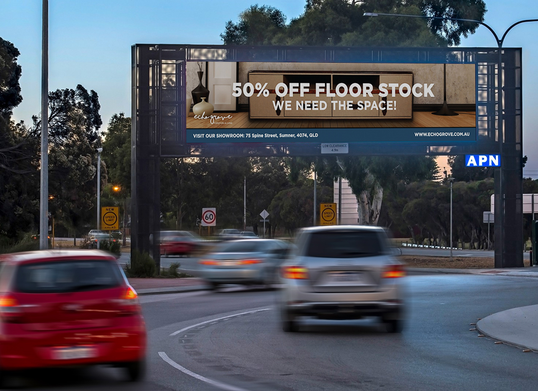 Billboard Design, Brisbane Graphic Design, Echo Grove, Creative Curiosity